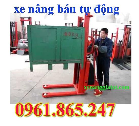 xe nâng bán tự động 1.5 tấn tại Bắc Ninh