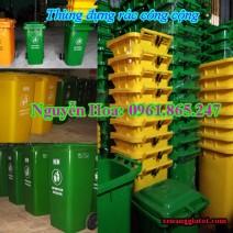 thùng đựng rác công cộng tại quận 10