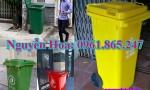 thùng rác 100l 120l 240l tại củ chi