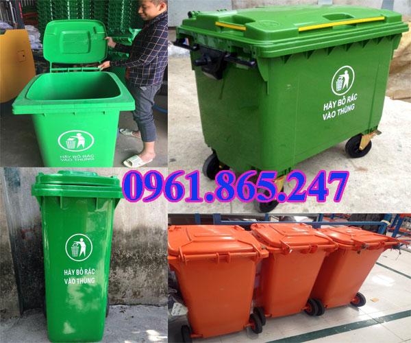 thùng rác 100l 120l 240l tại quận bình thạnh