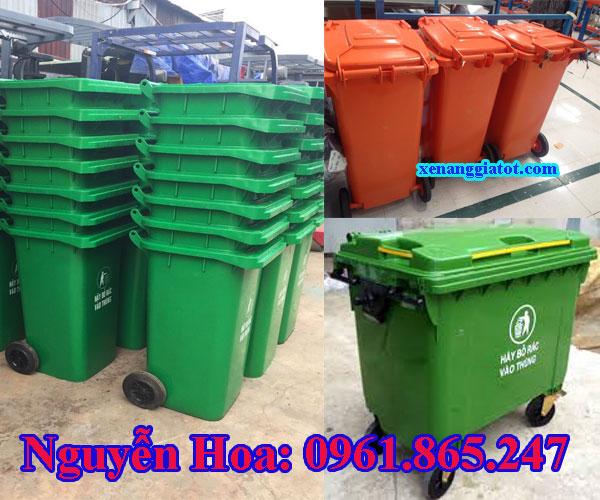 thùng rác 120l 240l xe đẩy rác 660l