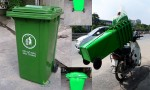 thùng rác công cộng tại cần giờ