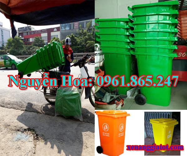 thùng rác công cộng tại huyện dĩ an