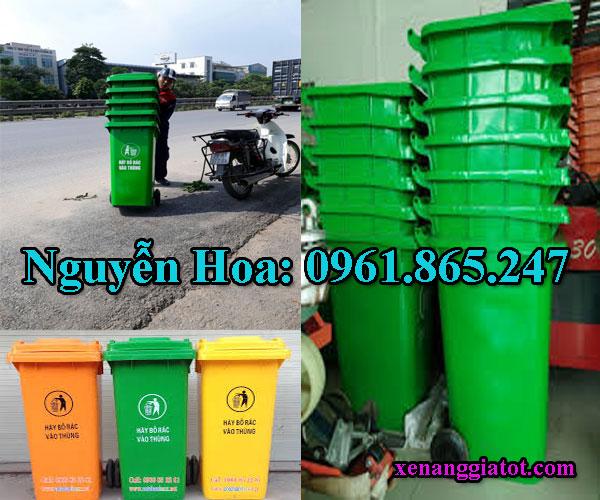 thùng rác công cộng tại nhà bè