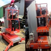 thang nâng đơn 6m 150kg 1 trục rút niuli