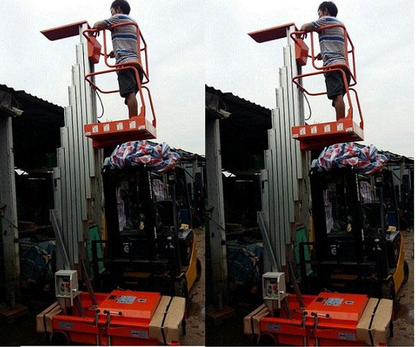 thang nâng đơn 8m 10m 125kg
