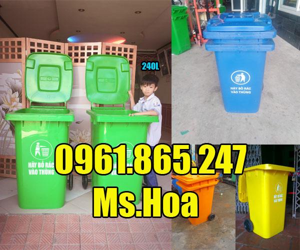 Giá thùng rác nhựa 240l tại tphcm