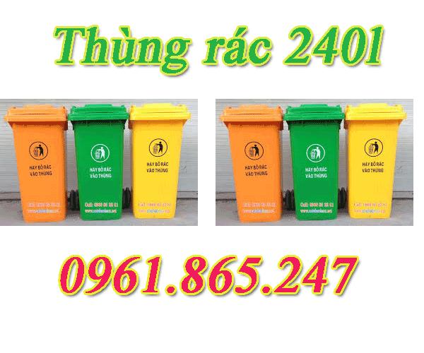 thùng rác 100l 120l 240l tại quận 1 nhập khẩu