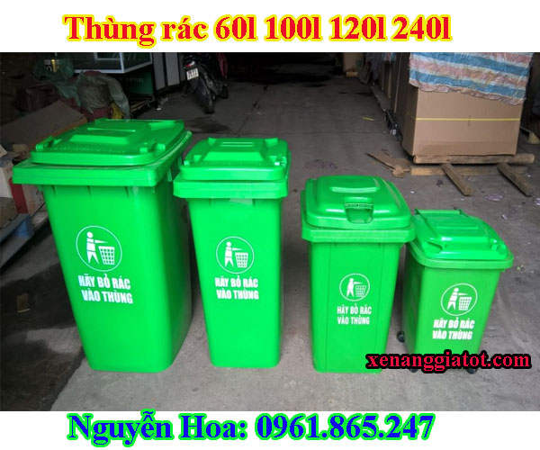 thùng rác 100l 120l 240l tại quận thủ đức