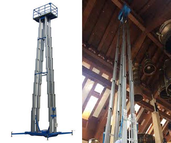 thang nâng người 16m 200kg 4 trục nâng