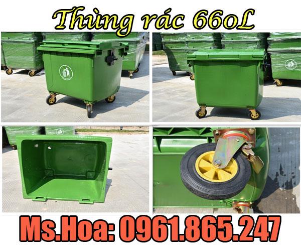 Xe đẩy rác bằng tay