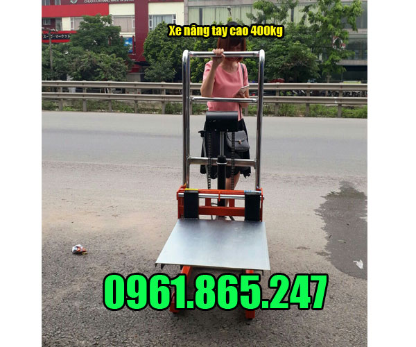 Xe nâng tay cao mini 400kg