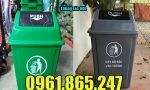 Thùng rác dùng cho trường mầm non