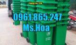 Giá thùng rác nhựa 120 lít