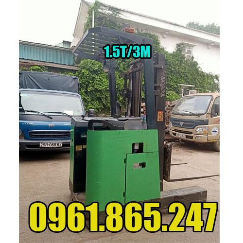 Xe nâng điện cũ đứng lái 1.5 tấn